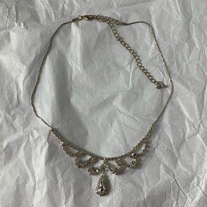 Sparkly Chandelier Bib Necklace Adjustable Chain